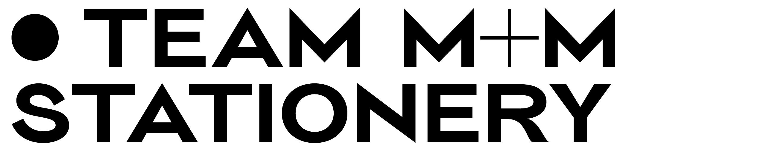 Stationery for team m&m —— foil stamp —— colour edge