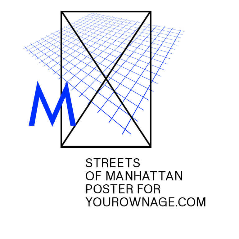 Streets of Manhattan —— Art Print for yourownage dot com